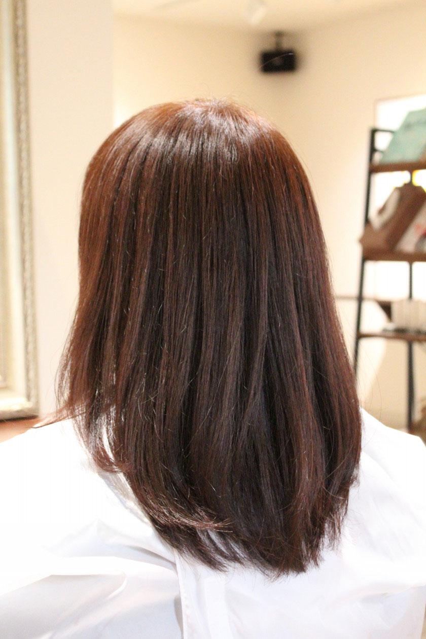 カラーエステ後の髪
