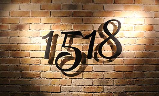 1518の夜の外壁